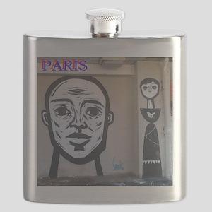 Wall spray painting art in Paris (Seine) 11 Flask