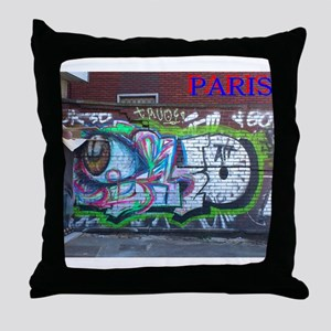 Wall spray painting art in Paris (Seine) 12 Throw