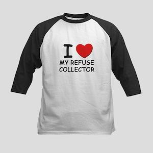 I love refuse collectors Kids Baseball Jersey