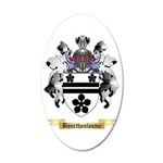 Bourthouloume 35x21 Oval Wall Decal