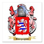 Bourguignon Square Car Magnet 3