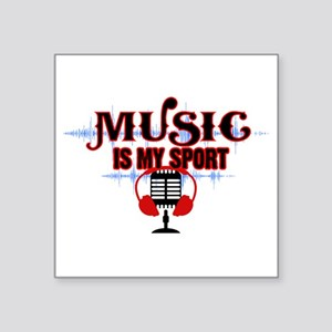 Music is my sport Sticker
