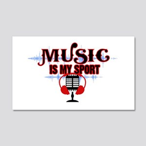 Music is my sport Wall Decal