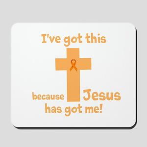 Peach Jesus Has Got Me Mousepad