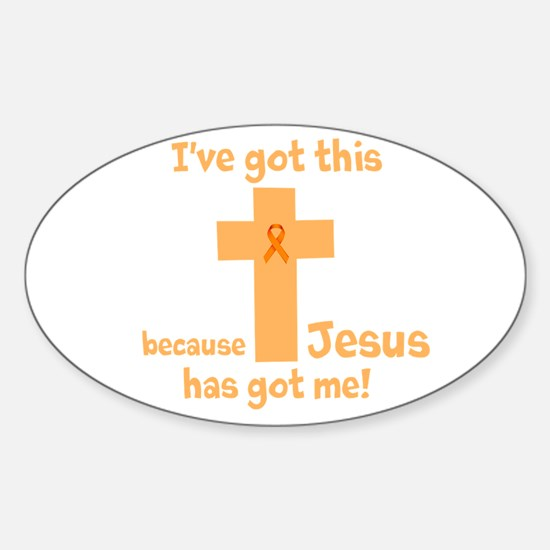 Peach Jesus Has Got Me Decal