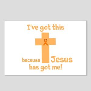 Peach Jesus Has Got Me Postcards (Package of 8)