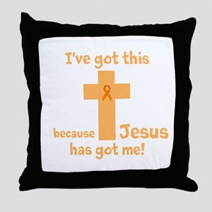 Peach Jesus Has Got Me Throw Pillow