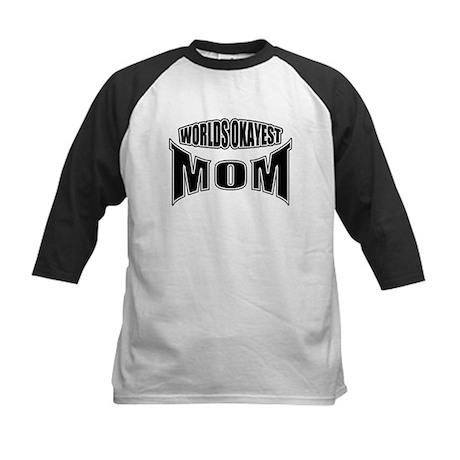 worlds okayest mom Kids Baseball Jersey