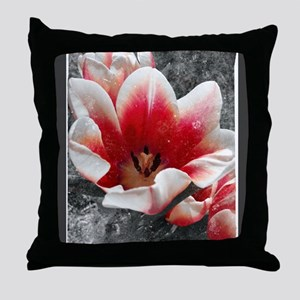 Abstract Tulip Throw Pillow