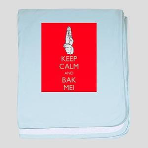 Keep Calm and Bak Mei baby blanket