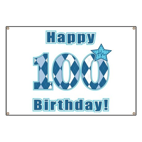 Happy 100th Birthday Banner