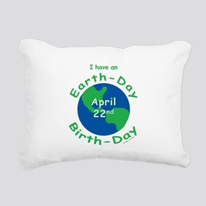 Earth Day Birthday Rectangular Canvas Pillow