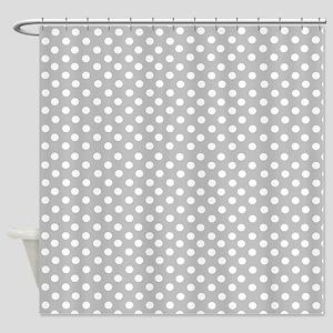 Gray polka dots Shower Curtain