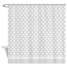 Grey polka dot Shower Curtain