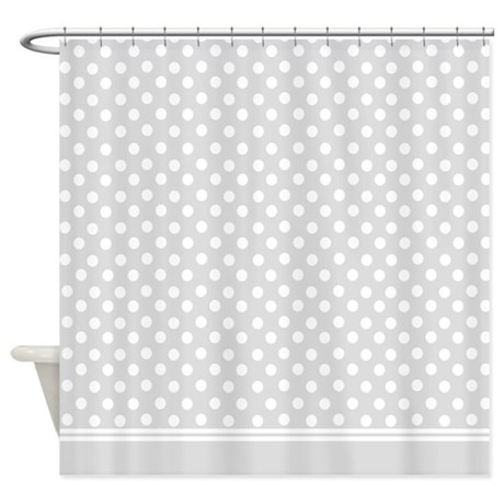 Grey Polka Dot Shower Curtain By InspirationzStore