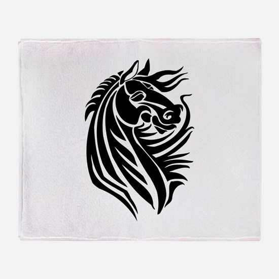 Majestic Horse Throw Blanket