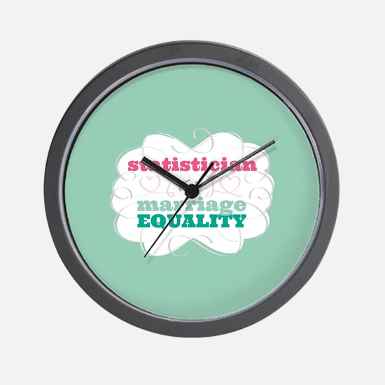 Statistician for Equality Wall Clock