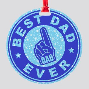 Best Dad Ever Thumbs Up Ornament