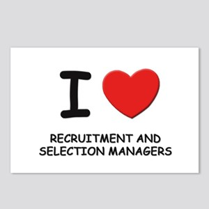 I love recruitment and selection managers Postcard