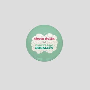 Theta Delta Chi for Equality Mini Button