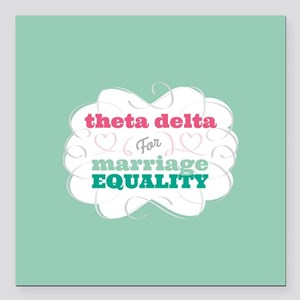 """Theta Delta Chi for Equality Square Car Magnet 3"""""""