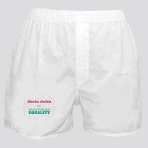 Theta Delta Chi for Equality Boxer Shorts