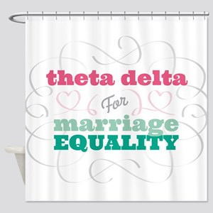 Theta Delta Chi for Equality Shower Curtain