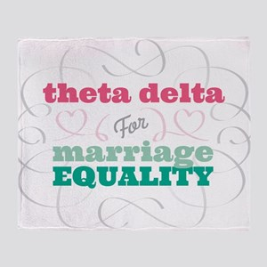 Theta Delta Chi for Equality Throw Blanket