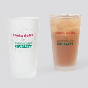 Theta Delta Chi for Equality Drinking Glass