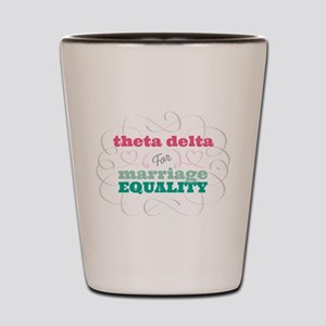 Theta Delta Chi for Equality Shot Glass