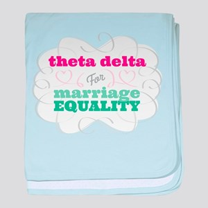 Theta Delta Chi for Equality baby blanket