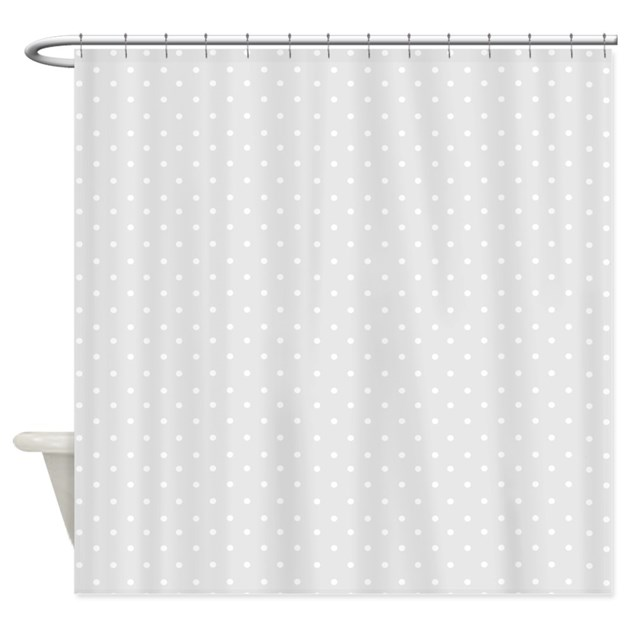 Small Gray Polka Dots Shower Curtain By Inspirationzstore
