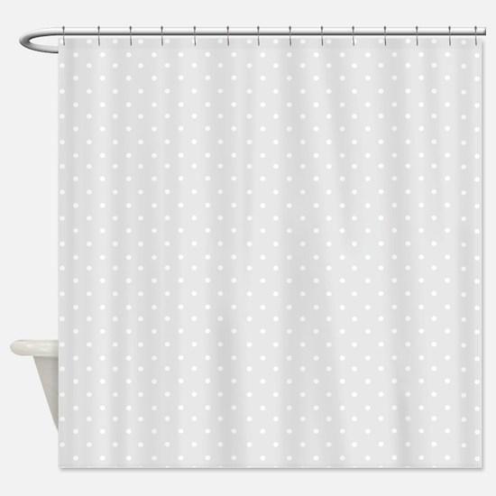 Small gray polka dots Shower Curtain