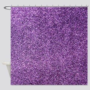 Purple faux glitter texture shower curtain (matte)
