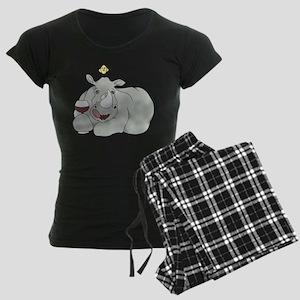 Rhino with Wine Pajamas