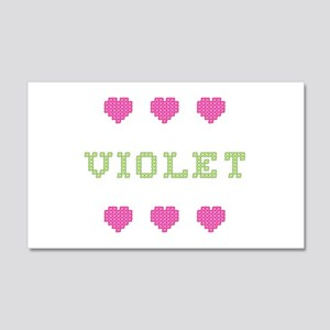 Violet Cross Stitch 20x12 Wall Peel