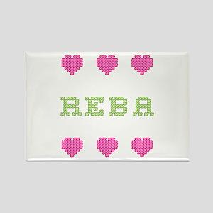 Reba Cross Stitch Rectangle Magnet