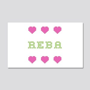 Reba Cross Stitch 20x12 Wall Peel