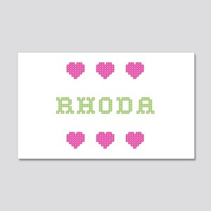 Rhoda Cross Stitch 20x12 Wall Peel