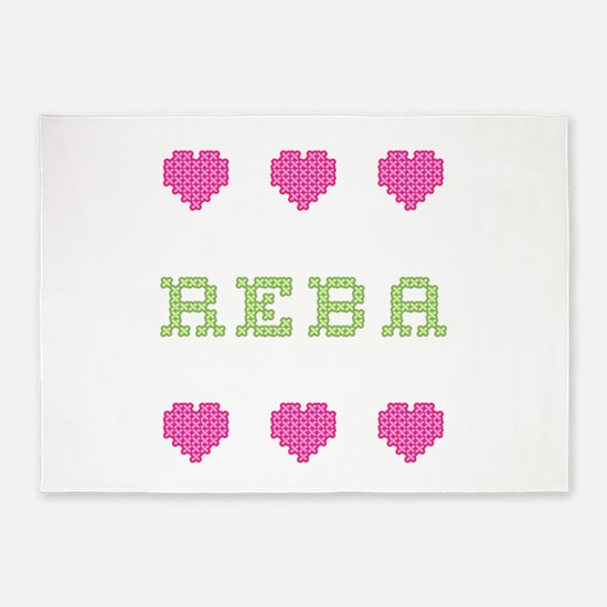 Reba Cross Stitch 5'x7' Area Rug