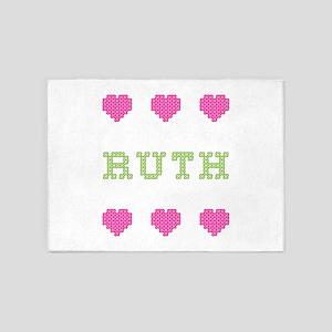 Ruth Cross Stitch 5'x7' Area Rug