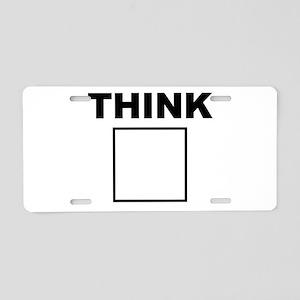 Think Aluminum License Plate