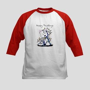 DeLighted Westie Kids Baseball Jersey