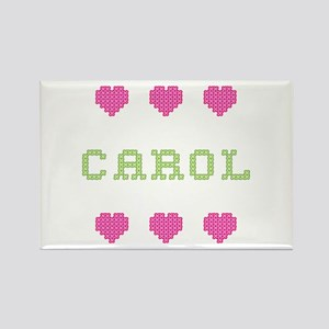 Carol Cross Stitch Rectangle Magnet