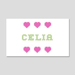 Celia Cross Stitch 20x12 Wall Peel