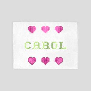 Carol Cross Stitch 5'x7' Area Rug