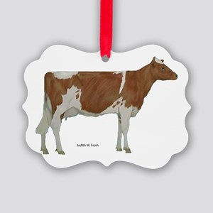 Guernsey Milk Cow Picture Ornament