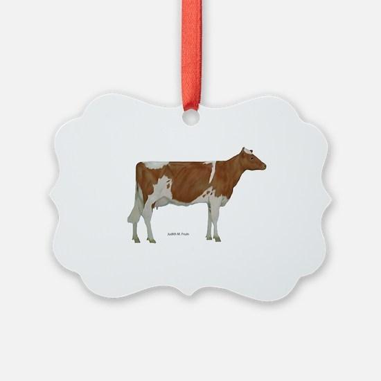 Guernsey Milk Cow Ornament
