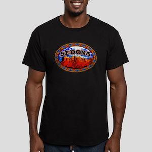 Sedona Navajo Sky Men's Fitted T-Shirt (dark)