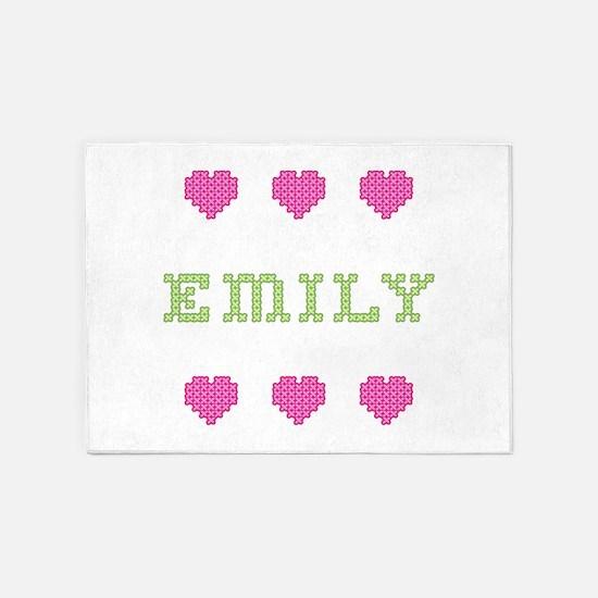 Emily Cross Stitch 5'x7' Area Rug